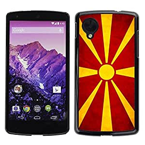 YiPhone /// Prima de resorte delgada de la cubierta del caso de Shell Armor - Macedonian Grunge Flag - LG Google Nexus 5 D820 D821