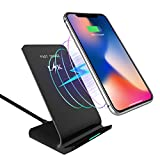 Wireless Charger, LK Qi Fast Wireless Charging Pad Stand for LG G7 ThinQ, Samsung Galaxy Note 9 / S9 / S9 Plus / S8 / S8 Plus, iPhone X / 8/8 Plus, All Qi-Enabled Devices [No AC Adapter]