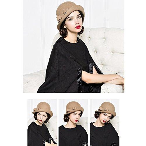 Inverno Zhirong 58cm Inghilterra colore Cachi Femminile Dimensioni Lana Cappello Cachi 56 D'autunno E Colore M Elegante Opzionale IpqW1nHw