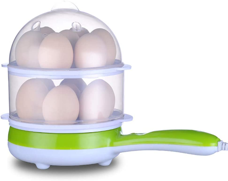 Soft Stainless Steel Hard Boiled Eggs Alarm Timer Settings Medium Electric 7 Egg Boiler Steamer Cooker with Buzzer Includes Egg Cup Piercer /& Measuring Water Cup