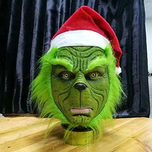 LIZHIOO Máscara Divertido Grinch Robó Navidad Cosplay Máscara de ...
