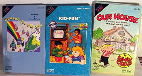 (3 VIS Video Information System Games - Our House, Kid-Fun & Search for the Sea)
