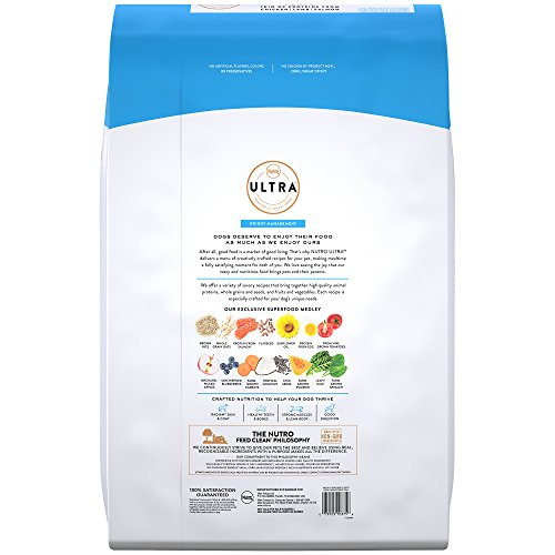 Nutro Ultra Adult Weight Management Dry Dog Food With A Trio Of Proteins From Chicken, Lamb And Salmon, 30 Lb. Bag