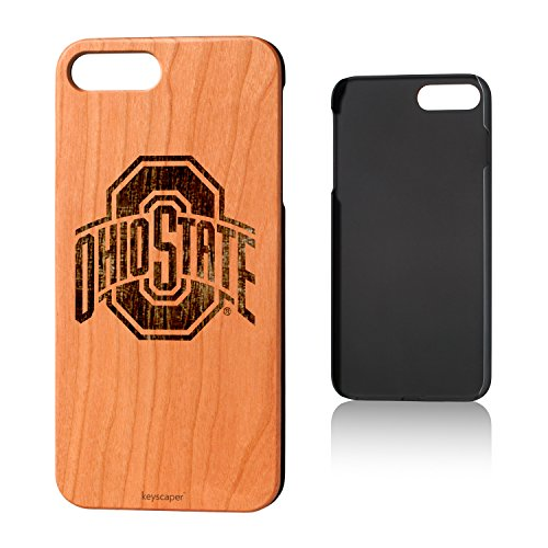 Keyscaper Ohio State University Cherry Wood iPhone 7 Plus/iPhone 8 Plus Case NCAA ()