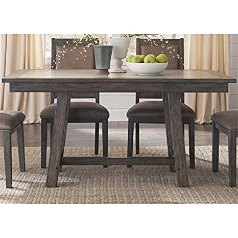Amazon Com Liberty Furniture Stone Brook Trestle Dining Table In