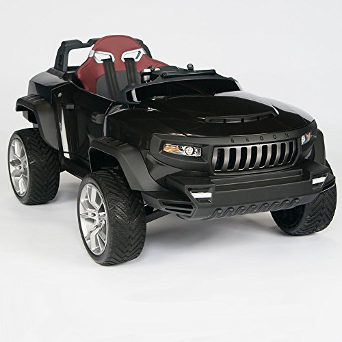 amazoncom henes broon t870 kids ride on vehicle 24v power with rubber wheels remote control black toys games