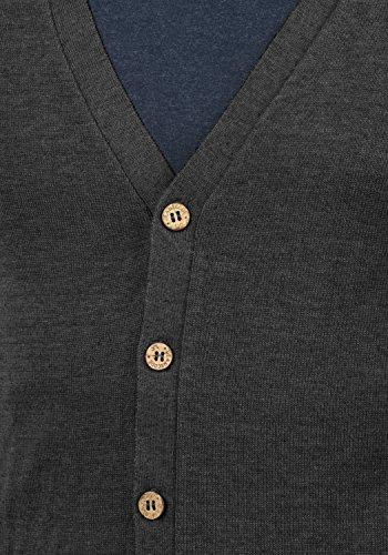 Mélange915 Tricot Bouton Hommes Col En Fine Avant Cardigan Salvatore Et Charbon V Indicode Cardigan PZTXOkiu