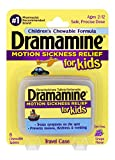 Dramamine Motion Sickness Relief for Kids | Grape Flavor | 8 Count | Children's Chewable Formula to Prevent Nausea, Dizziness, and Vomiting (Pack of 1)
