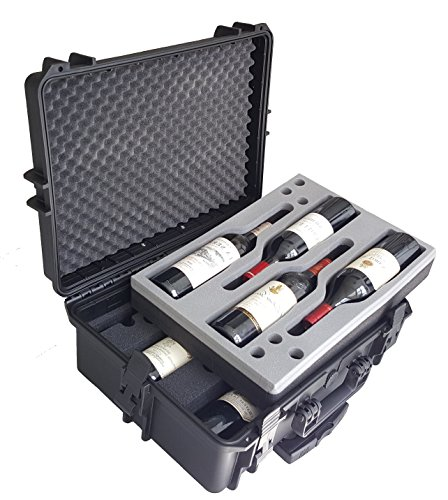 (Carrying Case for Wine - Bottles - Winecase - Wheeled Case - Wine transport - Wine Agent - Bottle Wine Carrier - hard case)