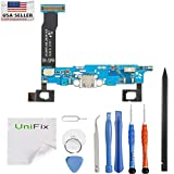 Unifix-Charging Port Flex Cable Dock Connector USB Port Replacement for Samsung Galaxy Note 4 N910P Sprint + Tool Kit