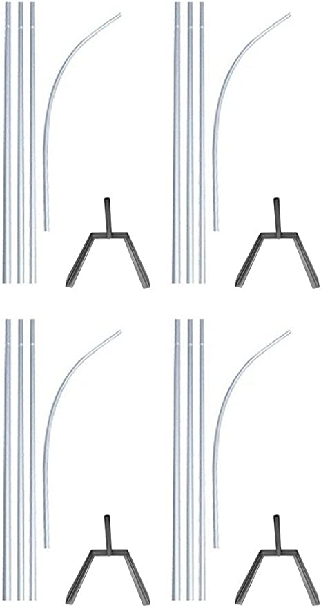 Swooper Flutter Flag Hardware-ONE 4 Piece Pole Kit with Ground Spike