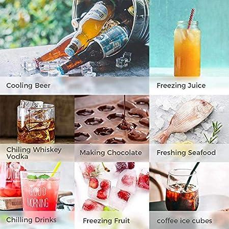 3 piezas Moldes de cubitos de hielo con tapas, 37-Cavity BPA Free Moldes de nido de abeja de silicio para Cóctel Whisky café Reajuste salarial Bebidas Jugo Bebidas frías