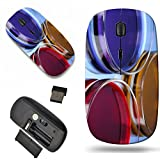 Luxlady Wireless Mouse Travel 2.4G Wireless Mice with USB Receiver, 1000 DPI for notebook, pc, laptop, macdesign IMAGE ID: 22222362 color liquid in petri dishes on blue background