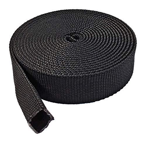 """Electriduct 1"""" Nylon Protective Hose Sleeve - 25 Feet - Black"""