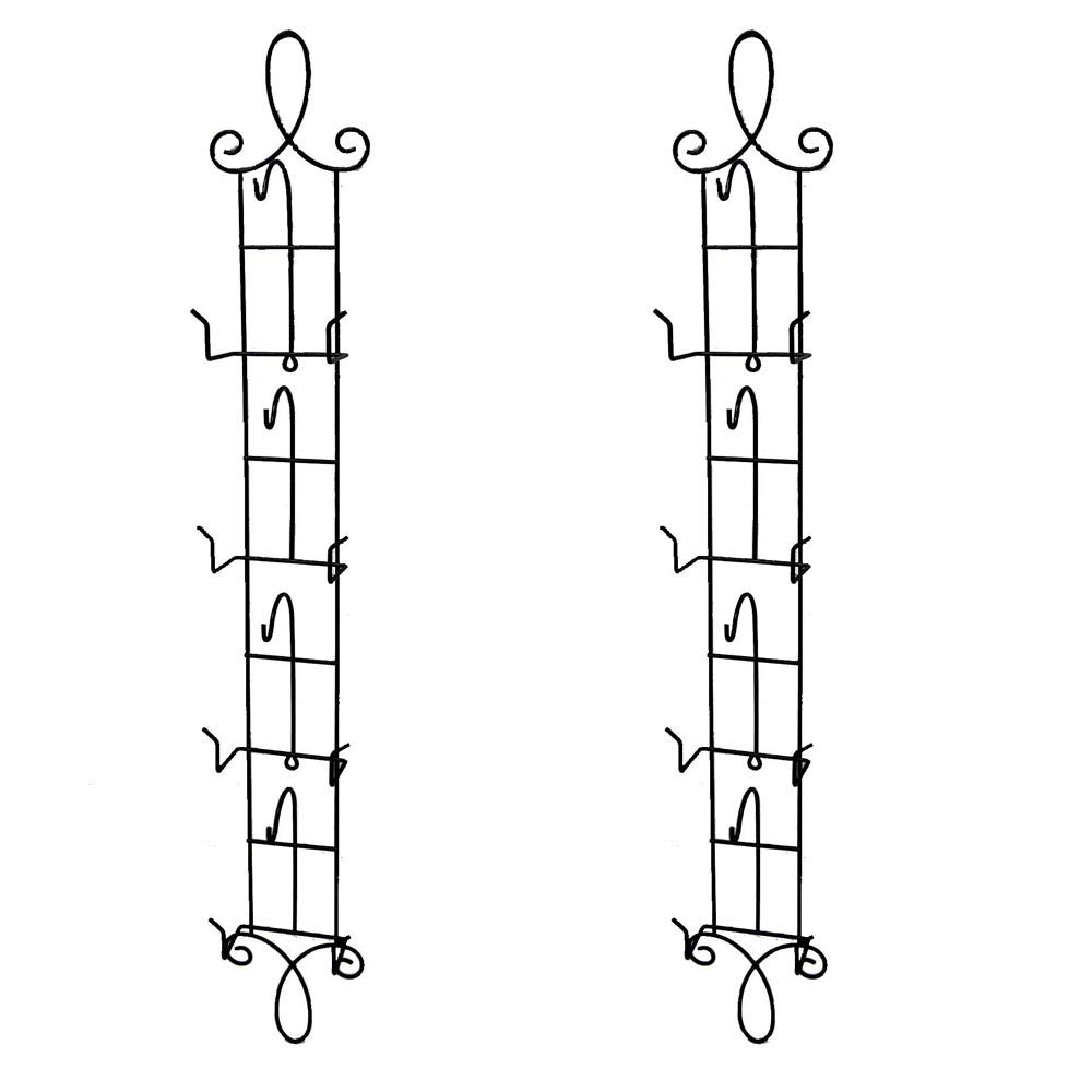 HOHIYA Wall Teacups and Saucer Display Easel Rack Stand Holder Wire (Black, Pack of 2)