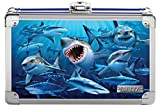 Vaultz Locking Supply Box, 5' x 2.5' x 8.5', Embossed Sharks (VZ03601)