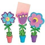 Flower Recipe or Picture Holder Craft Kit,12 sets