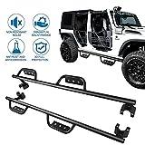jeep running boards 4 door 2015 - CCIYU For 2007-2016 Jeep JK Wrangler 4 Door Running Boards Side Step Rails Nerf Bars