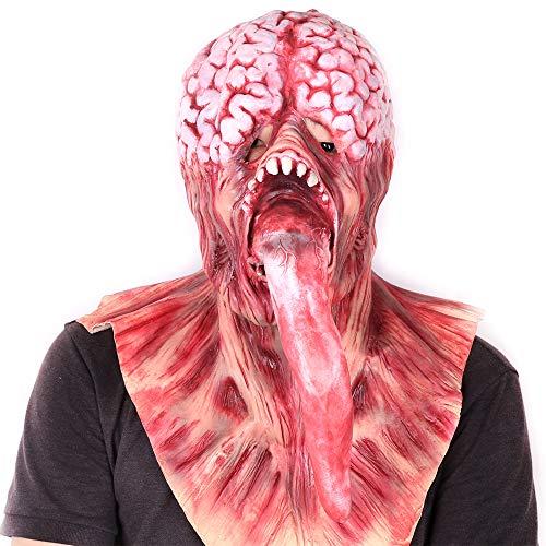 Halloween Mask Fancy Dress Brain Pulp with Long