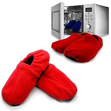 InnovaGoods - Zapatillas de Casa Calentables en Microondas, Rojo ...