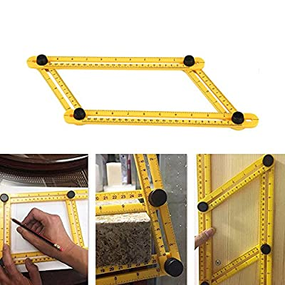 Angle Measuring Ruler For Lumber Layout Tools , Multi Scale Angleizer Template Precise Level Locks Measurement Stone , Brick , Easy ABS Angle-izer Nook Demensional Great For Craftsman , Architect