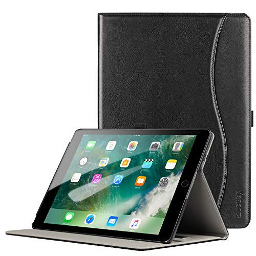 Ztotop Case for iPad Pro 9.7 Inch 2016, Premium PU Leather Business Folding Stand Folio Cover with Auto Wake/Sleep and Multiple Viewing Angles for iPad Pro 9.7'' 2016 Release,Black (Best Leather Case For Ipad Pro 9.7)