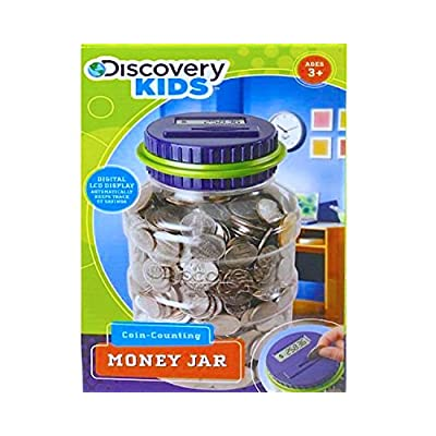 Discover Kids Coin-Counting Money Jar- Blue and Green     : Toys & Games