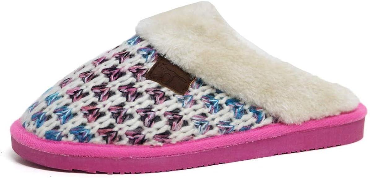 Zapatillas de andar por casa, para mujer, diseño tartán, con ribete de pelo sintético, tallas 35 a 41