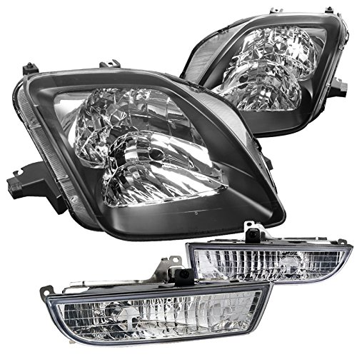 (Spec-D Tuning LFLH-PL97JC-RS Fog Headlight (For Prelude Black Pair JDM Clear with Switch))
