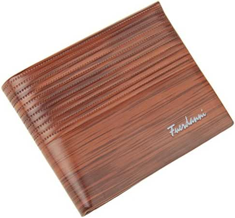 Fashion Road Mens Wallet Flipout Bifold Trifold Leather Wallet