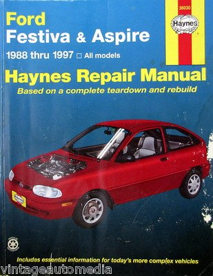 1988-1997 Haynes Repair Manual - Ford Festiva & Aspire - #36030