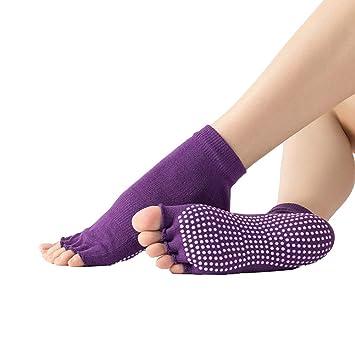 Zwzi Calcetines Profesionales De Yoga para Mujeres Algodón ...