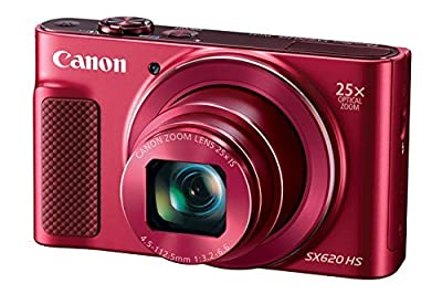 Canon PowerShot SX620 Digital Camera w/25x Optical Zoom - Wi-Fi & NFC Enabled (Red) from DigitalAndMore