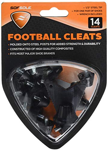 Sof Sole Steel Tip Replacement Cleat for Football Shoes, 1/2-Inch