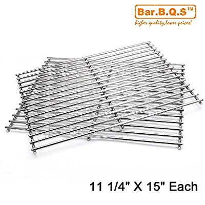 "Quality Bar.b.q.s Replacement 7521(2 Pack,11 1/4"" X 15"") Stainless Steel Cooking Grate for Weber Genesis Silver a and the Weber Spirit 500 Gas Grills from Bar.b.q.s"