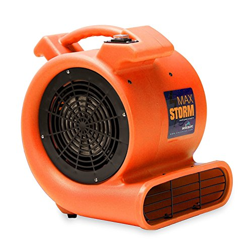 (Max Storm 1/2 HP Durable Lightweight Air Mover Carpet Dryer Blower Floor Fan for Pro Janitorial Cleaner, Orange)