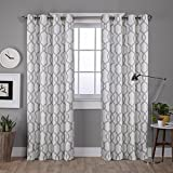 Exclusive Home Kochi Linen Blend Window Curtain Panel Pair with Grommet Top, Dove Grey, 52x84