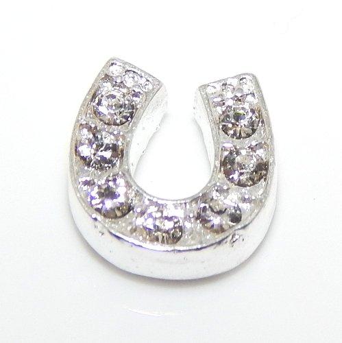 Pro Jewelry Floating Mini Charms for Floating Locket (Lucky Horseshoe) (Charm Small Horseshoe)