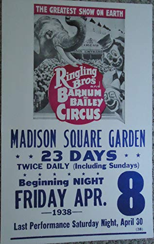 Ringling Brothers Circus Vintage Poster Print
