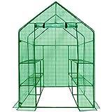 Heavy Duty Walk-In Greenhouse 2 Tier 8 Shelf Portable Lawn and Garden