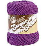 Lily Sugar 'N Cream Yarn, 2.5 Ounce, Black Currant