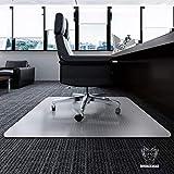 Desk Chair Mat for Carpet - Heavy Duty | Unbreakable Vinyl Floor Protector for Low-Pile Carpet,Thick 48' X 36' Rectangular Non-Slip Bottom, Home, Office, Computer