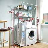 DIDIDD Shelf-Hwf Bathroom Shelves Bathroom Multi-Function Storage Rack Washing Machine Shelves(6248173Cm)