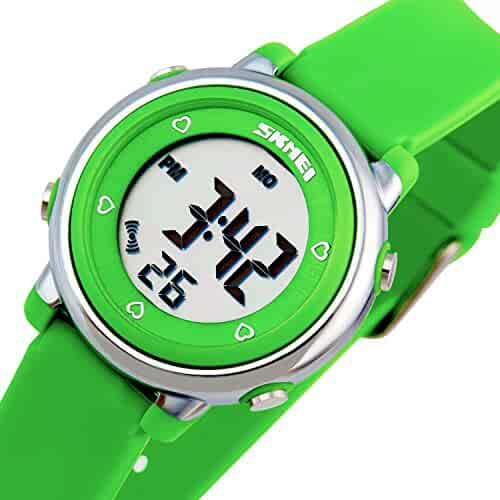 Better line® Digital Kids Watch Band with Hourly Chime, Stopwatch, Daily Alarm & Calendar (Green)