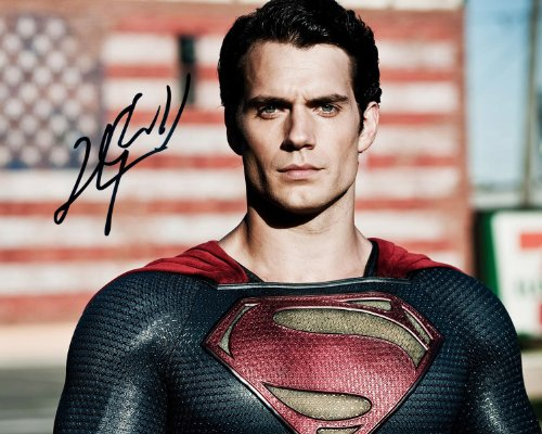 Superman Man of Steel Henry Cavill reprint signed photo #1 RP
