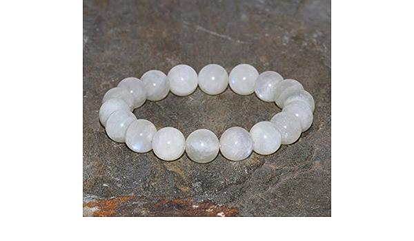 Natural Moonstone Bracelet Handmade 10mm Grade AA White Moonstone Gemstone Beaded Bracelet Stacking Bracelet Unisex Bracelet Gift for Her