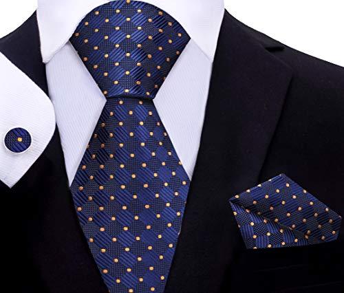 Twenty Dollar Tie Pacer Geometric Tie Pocket Square Cuff-links Set (XL - 63