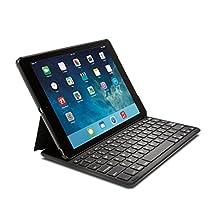 Kensington KeyFolio Thin X2 Bluetooth Keyboard Case for iPad Air, Black (K97233US)