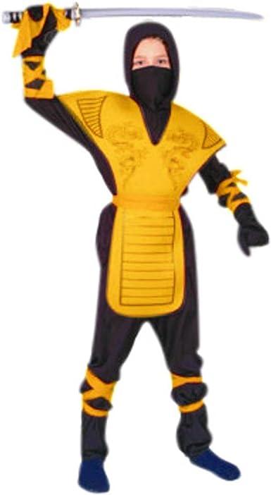 RG Costumes 90005-YL Dragon Ninja Master - Yellow Costume - Size Child-Large