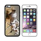 iPhone 7/7s Plus Metal Phone Case,MSD Bumper Custom Alum Case Design for horse stallion equestrian mammal white equine nature grey free mane farm speed gray gallop run